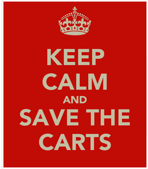 Keep calm and save the abandoned carts.