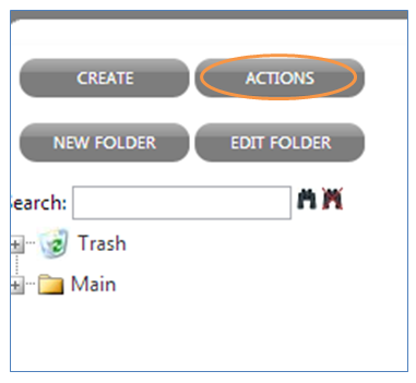Next, set up a Profile Update Action by clicking action in the menu bar to the left.