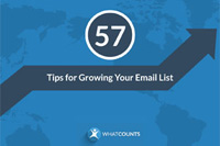 Download the eBook: 57 Tips for Growing Your Email List