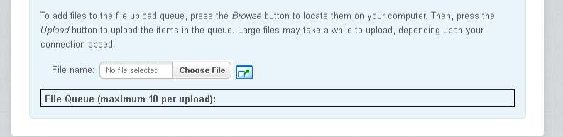 Choose the file you want to upload.