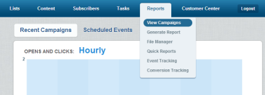 Use the Reports tab.