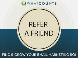 Refer a friend to WhatCounts and win free services if they use our services!