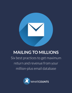 learn to manage a million plus email subscriber list