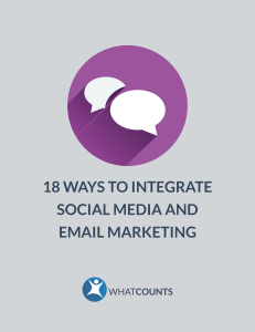 integrate social media and email marketing