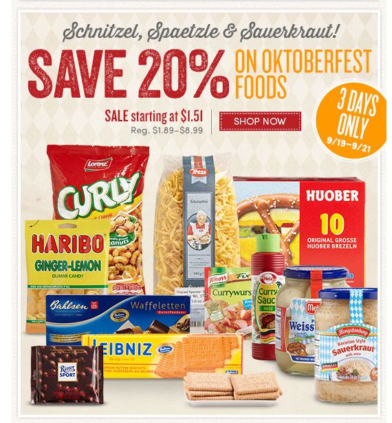 World Market harps on Oktoberfest, just one idea for an October email campaign.
