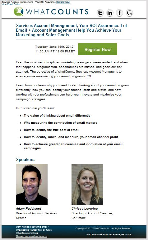 How to create webinar invitations that drive registrations.