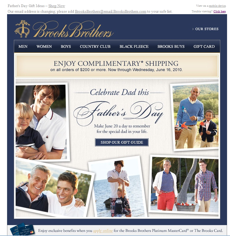Brooks Brothers Email
