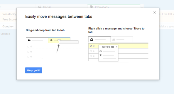 Gmail users have some control over the tabbed inbox.