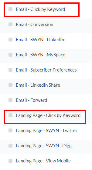 Two link keywords conditions have been added to the Profile Update Manager.