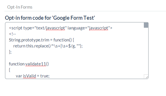 This is your opt-in form code.