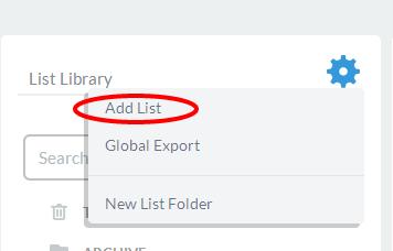 Start by adding a list.