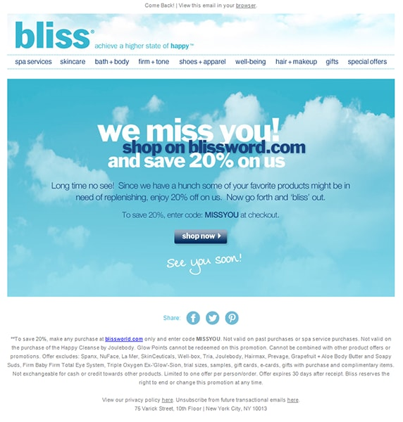 bliss email example image 298098u