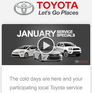 Toyota new responsive email template for mobile