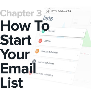 chapter 3 cover how to start your email list