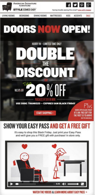 american signature furnature | WhatCounts - Email Marketing ...