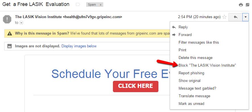 how to gmail block sender second screenshot