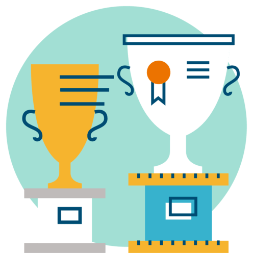 how to create a email reengagement series image with trophies
