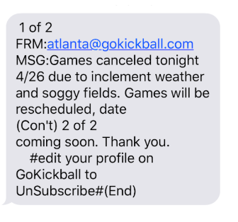 SMS Marketing Campaigns: GoKickball example.