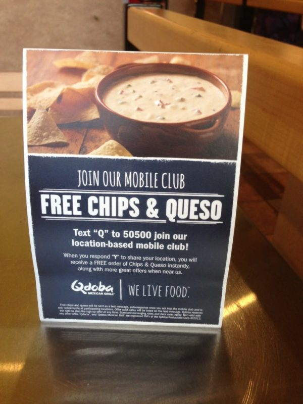 Take a hint from how Qdoba gathers info for its SMS marketing campaigns.