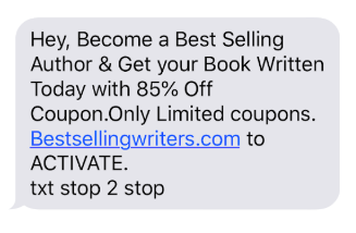 Unwanted messaging is not okay in SMS marketing campaigns.