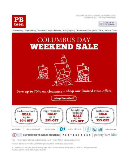 Check out this PB Teen Fall Email Marketing campaign.