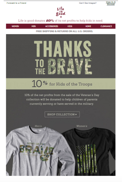 Veterans Day is an important part of Fall Email Marketing.