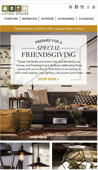 holiday email marketing strategies for friendsgiving