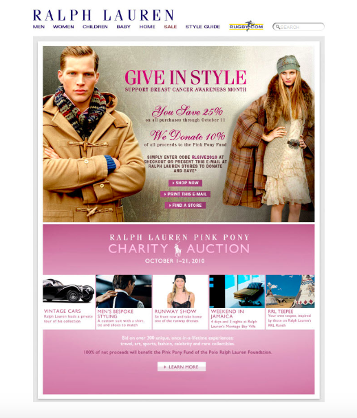 Check out this fall email marketing campaign from Ralph Lauren.