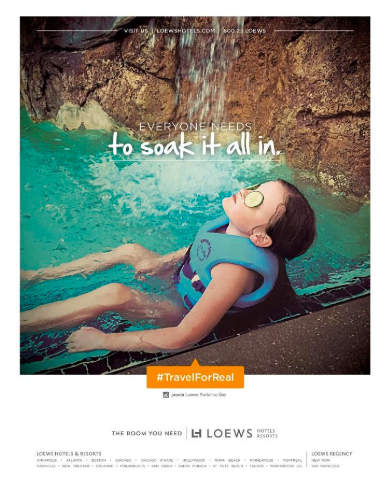 Loews Hotels email marketing example.