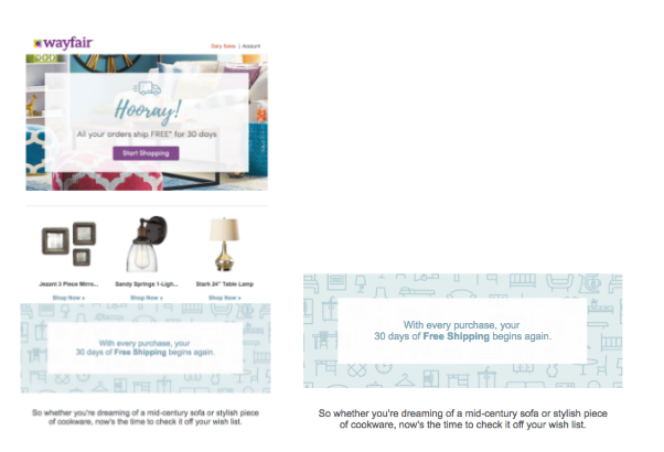 Learn from Wayfair's loyalty and frequent purchaser program.