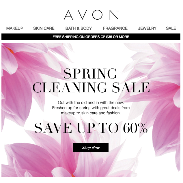Spring Email Marketing Examples