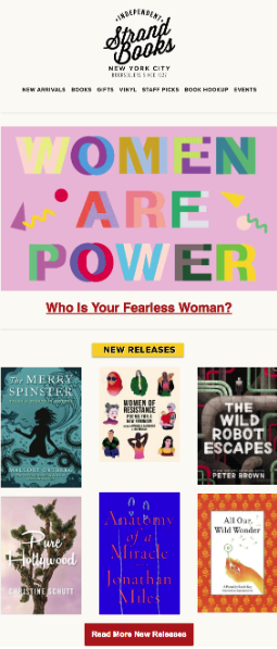 Women's History Month Email Example