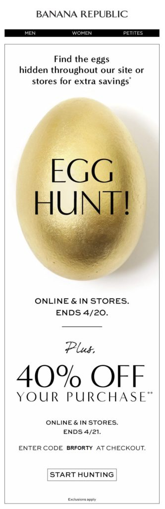 Easter Email Example