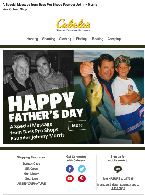 Father's Day Email Marketing Ideas
