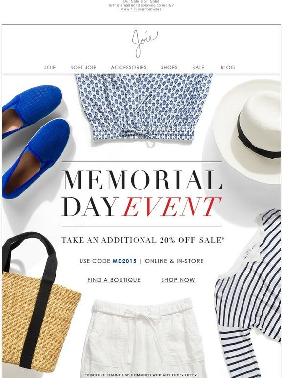 Memorial Day Email Example